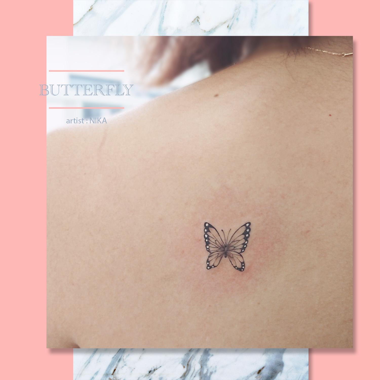 蝶 バタフライ タトゥー